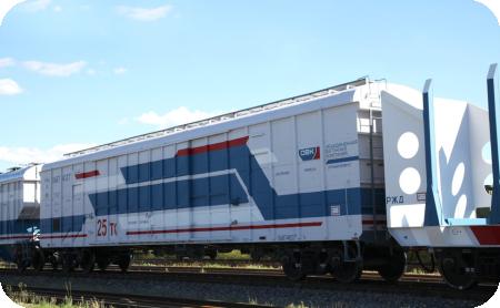 Крытый вагон модели 11-6874