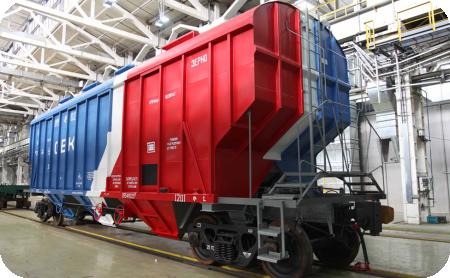 Вагон-зерновоз модели 19-9549